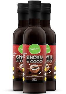 Kit 3 Shoyu De Coco Qualicôco - 250ml - Coco Aminos