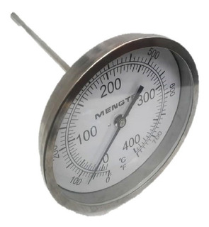 Termometro Inoxidable Ct 1/2 Caratula 5 X Largo 9 0/400c