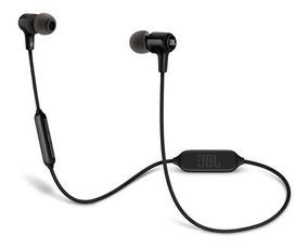 Fone De Ouvido Original Jbl E25bt Preto In Ear C/ Bluetooth