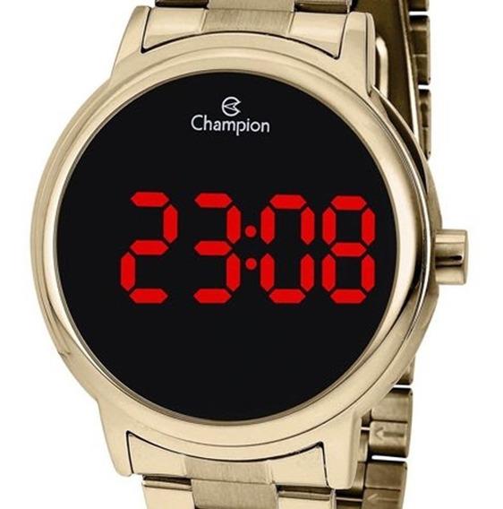 Relógio Champion Feminino Digital Dourado Original Barato
