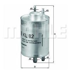 Imagen 1 de 1 de Filtro Gas Mercedes C200 230 240 280 Mahle Kl82