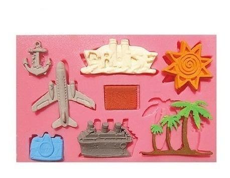 Molde De Silicone Viagem,avião,navio,câmera,ancora Rb273