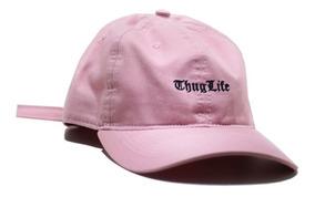 Boné Dad Hat Thug Life Aba Curva Strapback Rosa