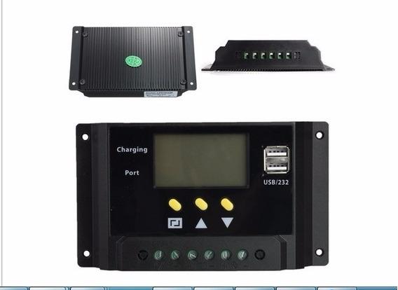 Controlador De Carga Painel Celula Solar 30a Digital 720w