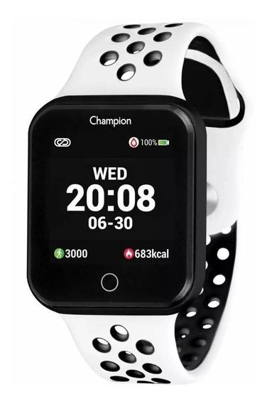 Relógio Champion Smartwatch Bluetooth Branco Original + Nf