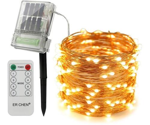Erchen Solar Powered Led String Lights With Backup Batt...