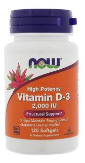 Vitamina D3 2000 Ui - Now Foods - 120 Softgels Full