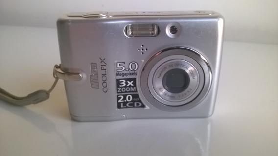 Câmera Digital Nikon Coolpix L10 5 Mp Zoom 3x Lcd 2