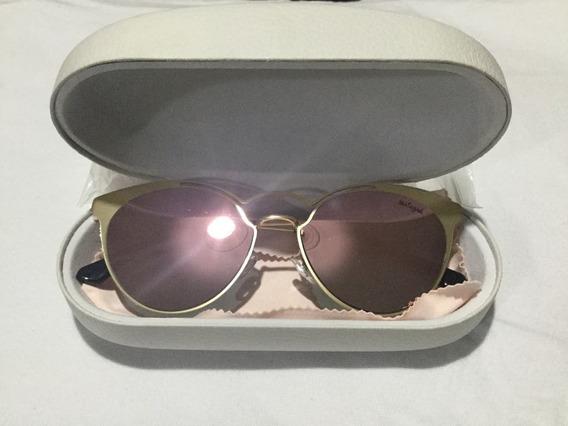 Óculos De Sol Dourado Espelhado Málagah Teen