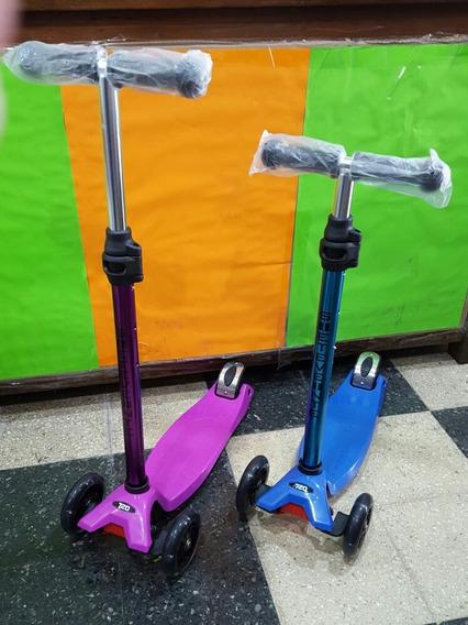 Monopatin Scooter Deluxe Metalizado Ruedas Con Luz July Toys