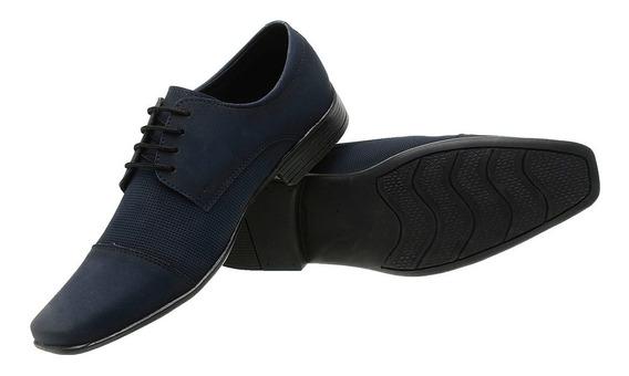 Sapatos Masculinos Sociais Nobuck Marinho Qualidade Garantid