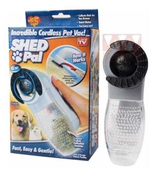 Escova Elétrica Aspirador Suga Pelo Pet Cachorro E Gato