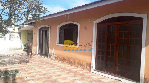Casa Com 3 Dormitórios À Venda, 212 M² Por R$ 530.000,00 - Balneário Flórida - Praia Grande/sp - Ca5556
