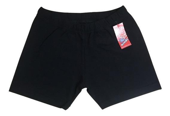 Mini Short Calza Colegial Negra Talle 4-16 Algodón C/lycra