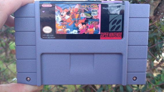 Fita Jogo Super Nintendo Mikey Mouse Magical Quest 3 Snes