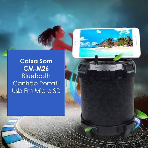 Caixa Caixinha De Som Bluetooth Amplificada Usb Mp3 Radio Fm
