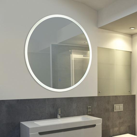 Espejo Circular C/luz Touch Led 0.80 Diametro Dimerizable