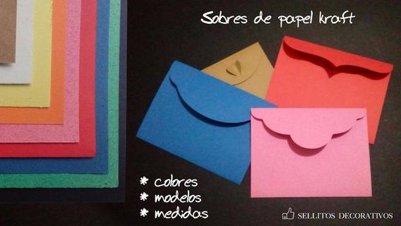 22x15 Cm - 25 Sobres Invitación Media Carta Kraft - Colores
