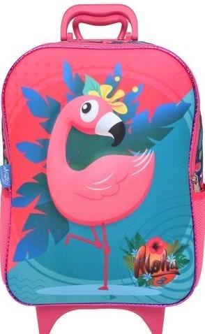 Mochilete Soft Flamingo 3d Escolar Maxtoy Mochila