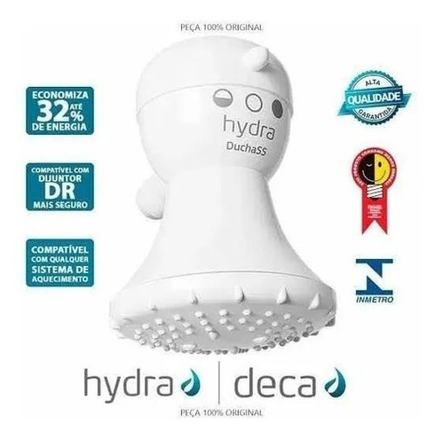 Chuveiro Ducha Elétrica Corona Hydra Ss 3 Temp. 220v 4400w