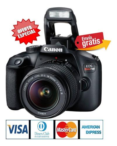 Camara Canon Profesional T100 Lente 18-55mm Fullhd Wifi Hdmi