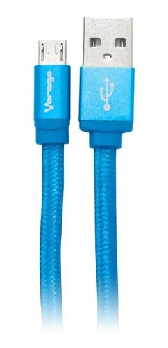 Cable Transferencia Datos Vorago Cab-113 Micro Usb Usb Azul