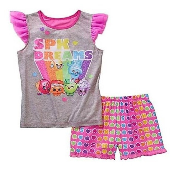 Shopkins Pijamas Niña Set De 2 Piezas 10/12