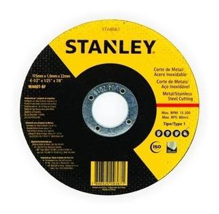 50 Pçs Disco De Corte Inox 4 1/2 X 1,00 Stanley