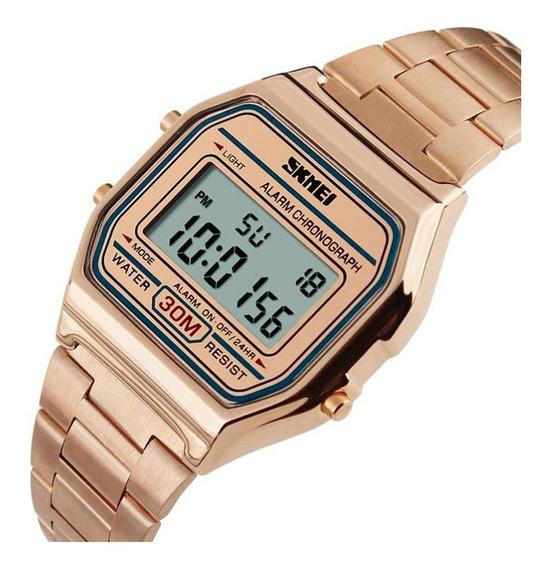 Relógio Unissex Skmei Digital 1123 - Rosê