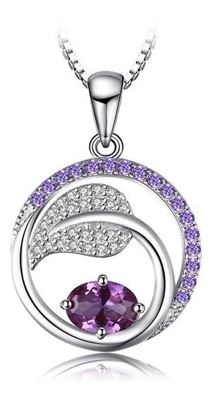 Dije Alejandrita Oval Zafiros Púrpuras Ak Jewelry Plata 925