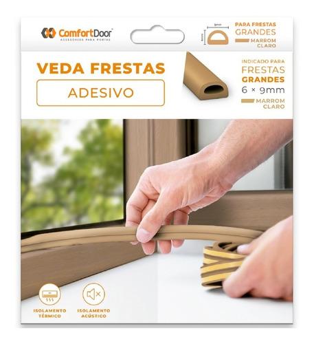 Veda Fresta 6x9 Mm Marrom Claro 6m Comfort Door Envio Rapido