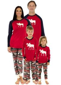 cbc7b2d2f1 Navidad Familia Niño Lindo Pijama Conjuntos Ciervo Nieve Im