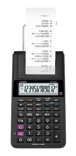Paquete Calculadora Casio Sumadora Hr-10rc + Cinta Ir-40