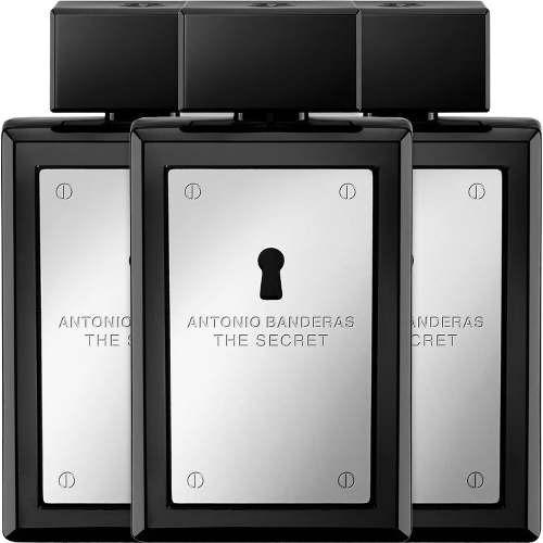 03 Perfumes The Secret 3x100ml Edt Antonio Banderas Original