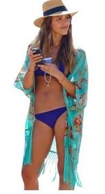 Kimono Cardigan Moda Verão Saída De Praia