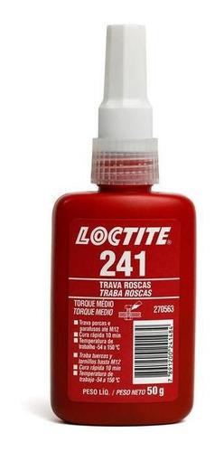 Adesivo Loctite 241 Trava Roscas Médio Torque Azul 50g