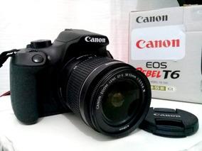 Câmera Canon T6 Ef-s 18-55mm, Bolsa, Cartão E Kit Limpeza