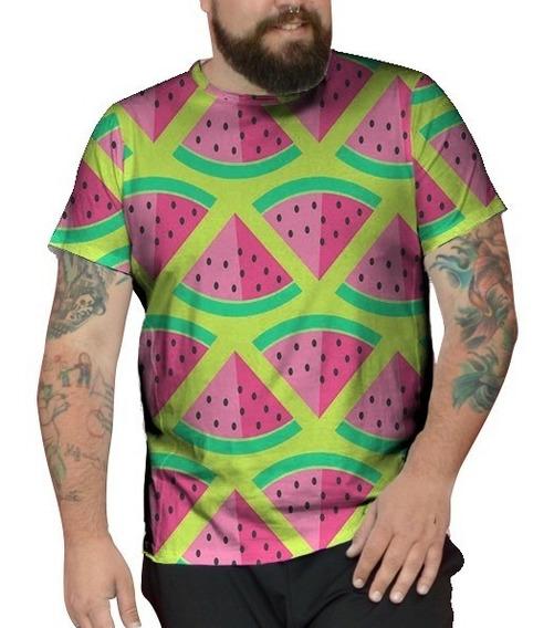 Camiseta Plus Size Melancia Tumblr Acid Trip Unissex Kawaii