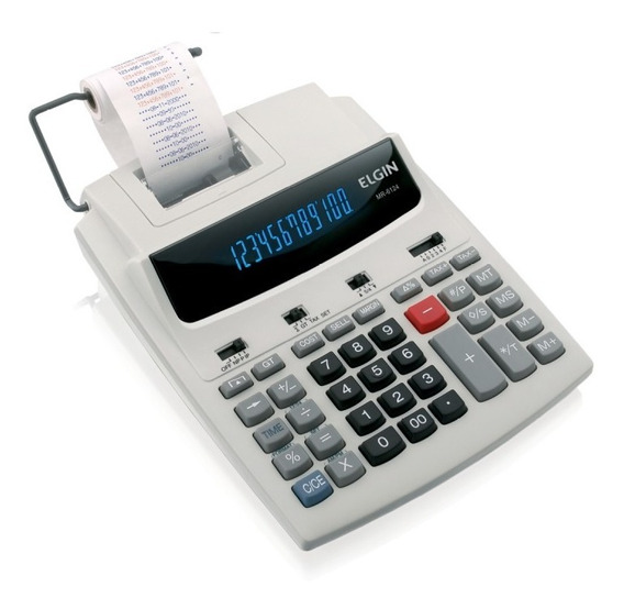 Calculadora De Mesa Com Bobina 12 Dígitos Mr-6124 Elgin - Frete Gratis