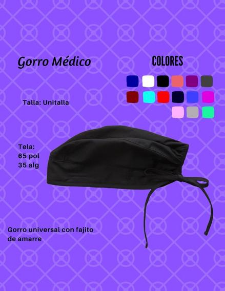 Gorro Médico De Tela C/10 Pz Colores Excelente Calidad