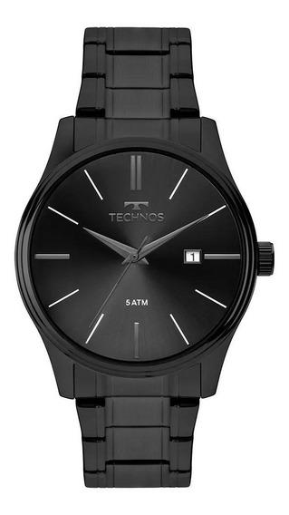 Relógio Masculino Technos Classic 2115mpo/4p 42mm Aço Preto