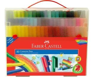 Maleta 80 Marcadores Conector Faber Castell