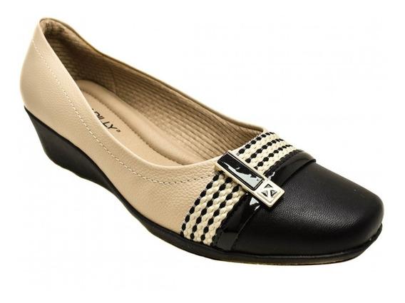 Sapato Anabela Feminino Piccadilly - Ref 144038 Marfin