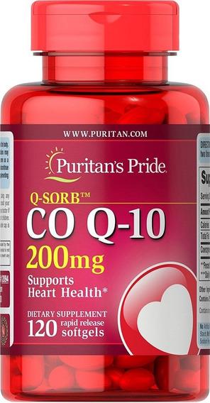 Coenzima Q-10 Coq10 200mg - 120 Cáps Importado Puritans