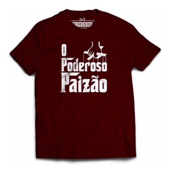 Camiseta Dia Dos Pais Presente Frase O Poderoso Paizão Papai