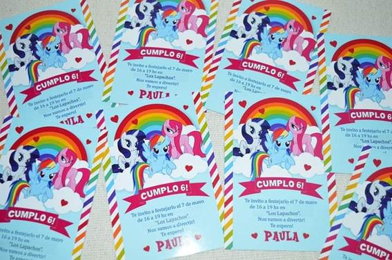 30 Invitaciones Mi Pequeño Pony