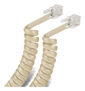 Cable Espiral Telefónico Plug A Plug, Para Auricu | 302-007