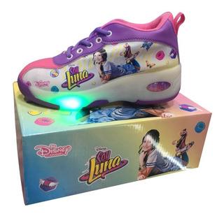 Tenis Patin Soy Luna Zapatillas Con Luces Retractil Niñas