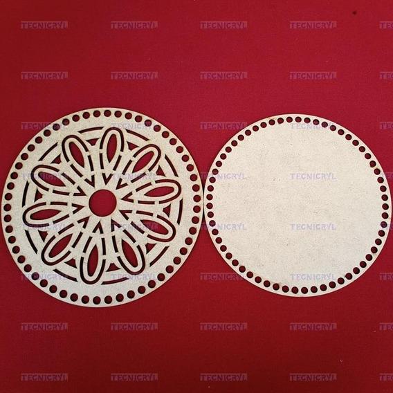 Kit 20 Un Base/tampa Mandala(1) Mdf Maxi Crochê Cachepô