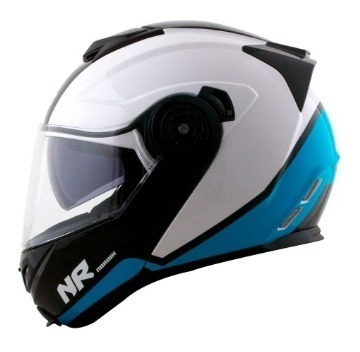Capacete Norisk Ff345 Route Chance White/blue/black